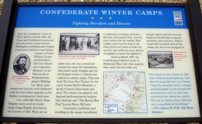 Confederate Winter Camps Marker Photo, Click for full size