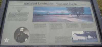 Battlefield Landmarks - West and North Marker image. Click for full size.
