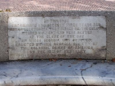 Oglethorpe Bench Marker image. Click for full size.