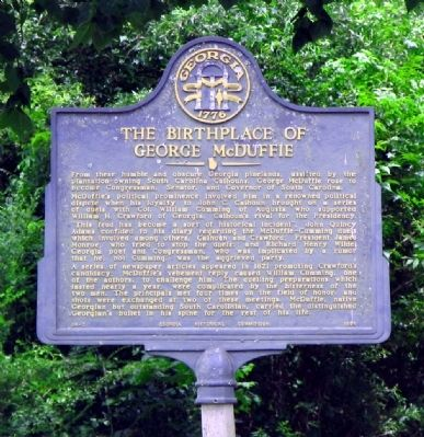 The Birthplace of George McDuffie Marker image. Click for full size.