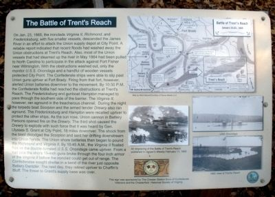 The Battle of Trent�s Reach Marker Photo, Click for full size
