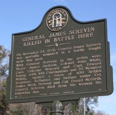 General James Screven Marker Photo, Click for full size