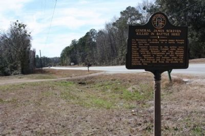 General James Screven Marker looking Southward along US 17 Photo, Click for full size
