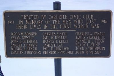 Carlisle First World War Memorial image. Click for full size.