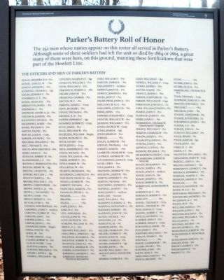 Parker�s Battery Roll of Honor. Photo, Click for full size