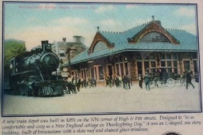 Postcard view of 1891 High Street Train Station image. Click for full size.