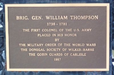 Brigadier General William Thompson Marker Photo, Click for full size