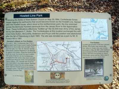 Howlett Line Park Marker Photo, Click for full size