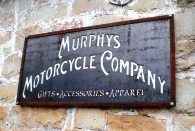 Valente Building - Murphys Motorcycle Company Sign Photo, Click for full size