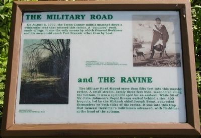 The military road and the ravine Marker image. Click for full size.
