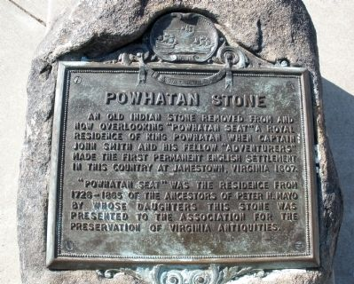 Powhatan Stone Marker image. Click for full size.