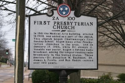 First Presbyterian Church Marker Photo, Click for full size