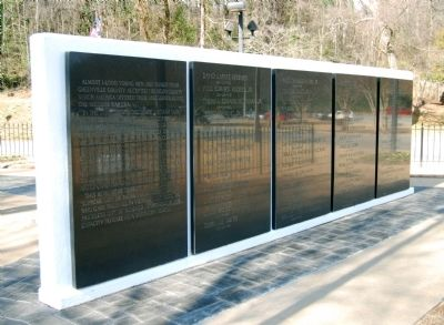 Greenville County Vietnam Veterans Memorial - <br>West Wall Photo, Click for full size