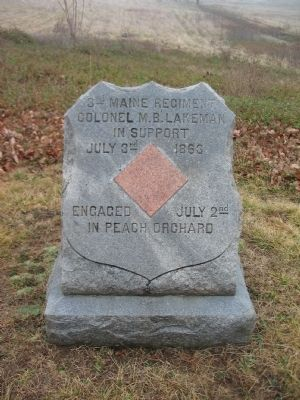 3rd Maine Regiment Marker image. Click for full size.