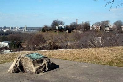 View upriver from the Chimborazo Hospital Marker Photo, Click for full size