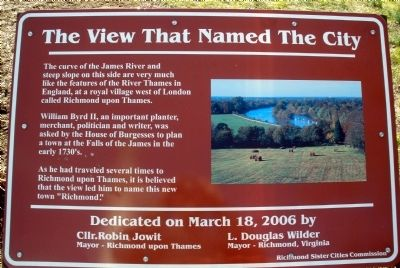 The View That Named The City Marker image. Click for full size.