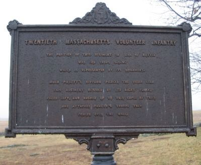Twentieth Massachusetts Volunteer Infantry Marker image. Click for full size.