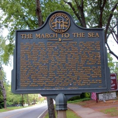 The March to the Sea Marker Photo, Click for full size