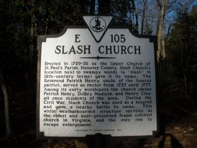 Slash Church Marker Photo, Click for full size