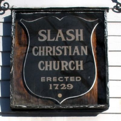 Slash Church Plaque. Photo, Click for full size