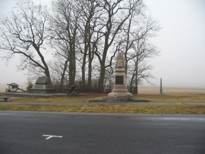 106th Pennsylvania Infantry Monument and the Copse of Trees image. Click for full size.