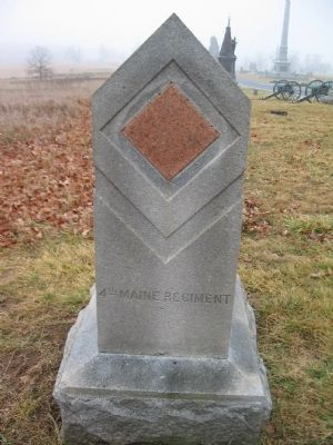 4th Maine Regiment Marker image. Click for full size.