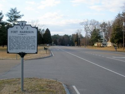 Fort Harrison Marker on New Market Road facing west. image. Click for full size.