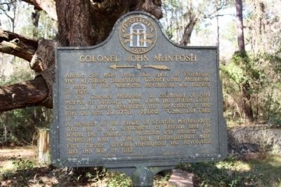Colonel John McIntosh Marker Photo, Click for full size