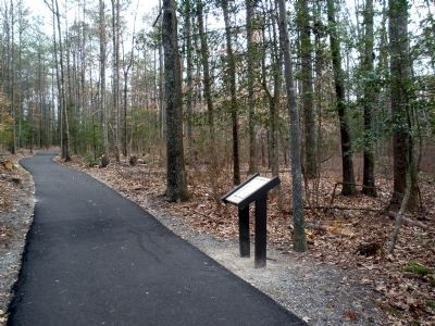 From Farmland to Forest Marker on the trail. image. Click for full size.