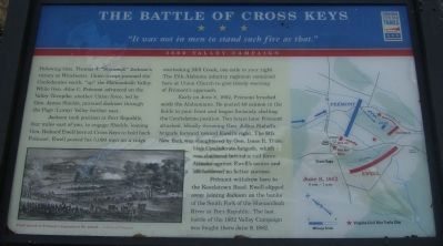 The Battle of Cross Keys Marker Photo, Click for full size