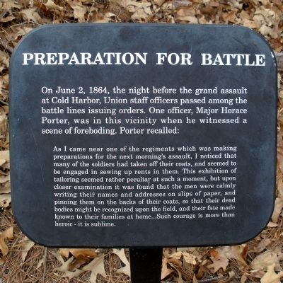 Preparation For Battle Marker Photo, Click for full size