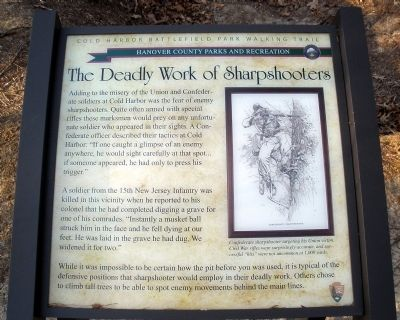 The Deadly Work of Sharpshooters Marker image. Click for full size.