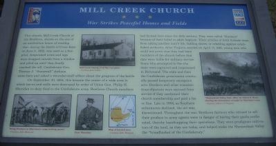 Mill Creek Church Marker image. Click for full size.