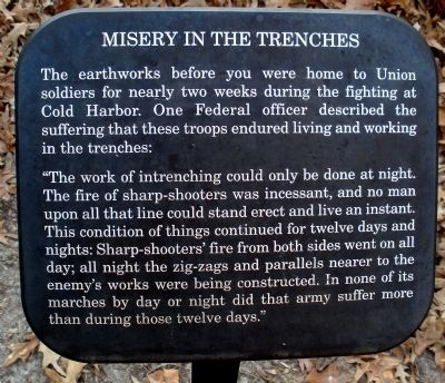 Misery In The Trenches Marker Photo, Click for full size