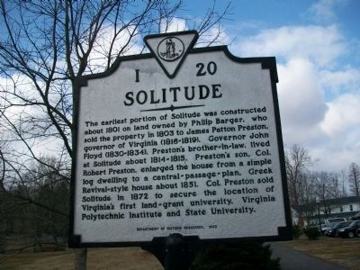 Solitude Marker Photo, Click for full size