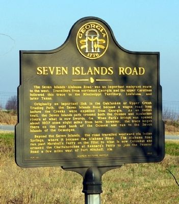 Seven Islands Road Marker image. Click for full size.