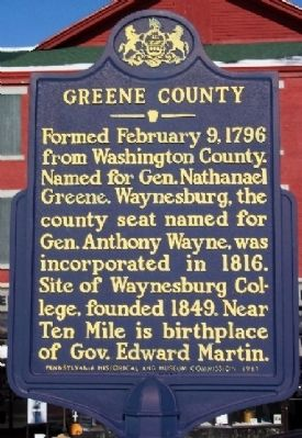 Greene County Marker image. Click for full size.