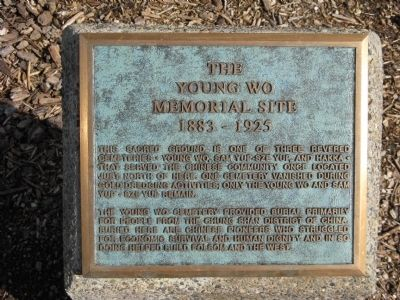 The Young Wo Memorial Site Marker image. Click for full size.