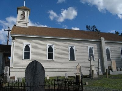View of Church from Adjoining Cemetery image. Click for full size.