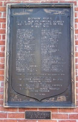 Greene County World War I Memorial image. Click for full size.