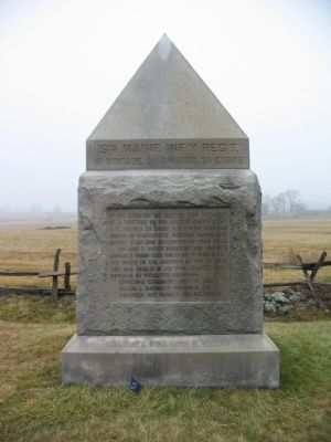 19th Maine Infantry Regiment Monument image. Click for full size.