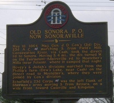 Old Sonoraville P.O. Now Sonoraville Marker image. Click for full size.