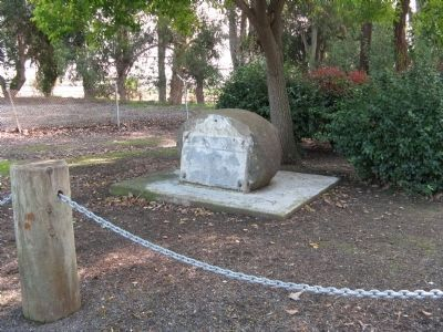 Benicia Barracks Site Marker Base Photo, Click for full size