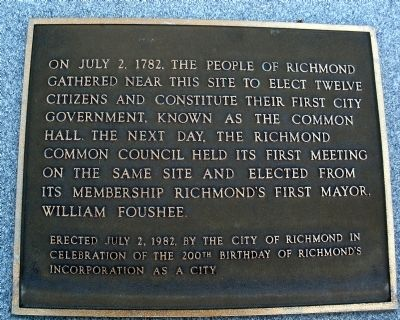 City of Richmond Bicentennial Marker Photo, Click for full size