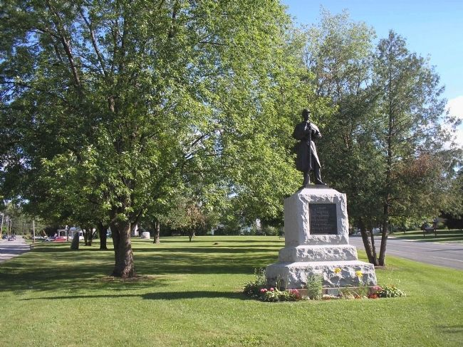 Monument in Ticonderoga Artillery Park Photo, Click for full size