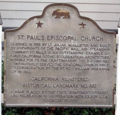 Saint Paul's Episcopal Church Marker image. Click for full size.