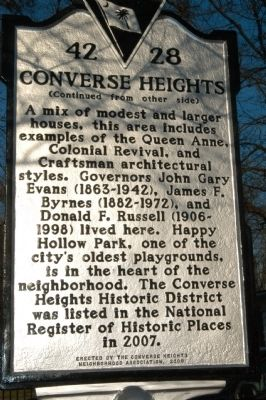 Converse Heights Marker image. Click for full size.