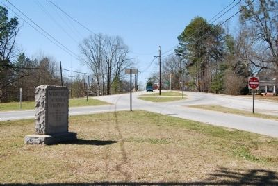 Moorefield Memorial Highway Marker-<br>Looking West from Marker image. Click for full size.
