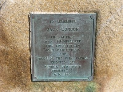 Jack London Marker Photo, Click for full size