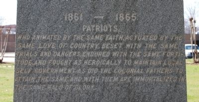 Greenwood County Confederate Monument Marker -<br>East Side image. Click for full size.